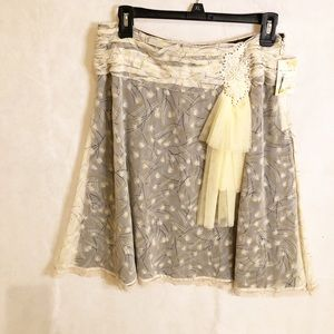 Free people skirt with bow NWT size 4
